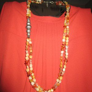Coldwater Creek Double Strand long Necklace